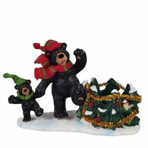 Yankee Votive 2012 Candle Holder Mom and Cub Bear